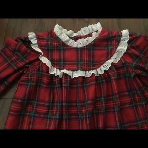 lanz of slazburg Pajamas - Lanz of Salzburg plaid Christmas nightgown 3T d67fe1cb3